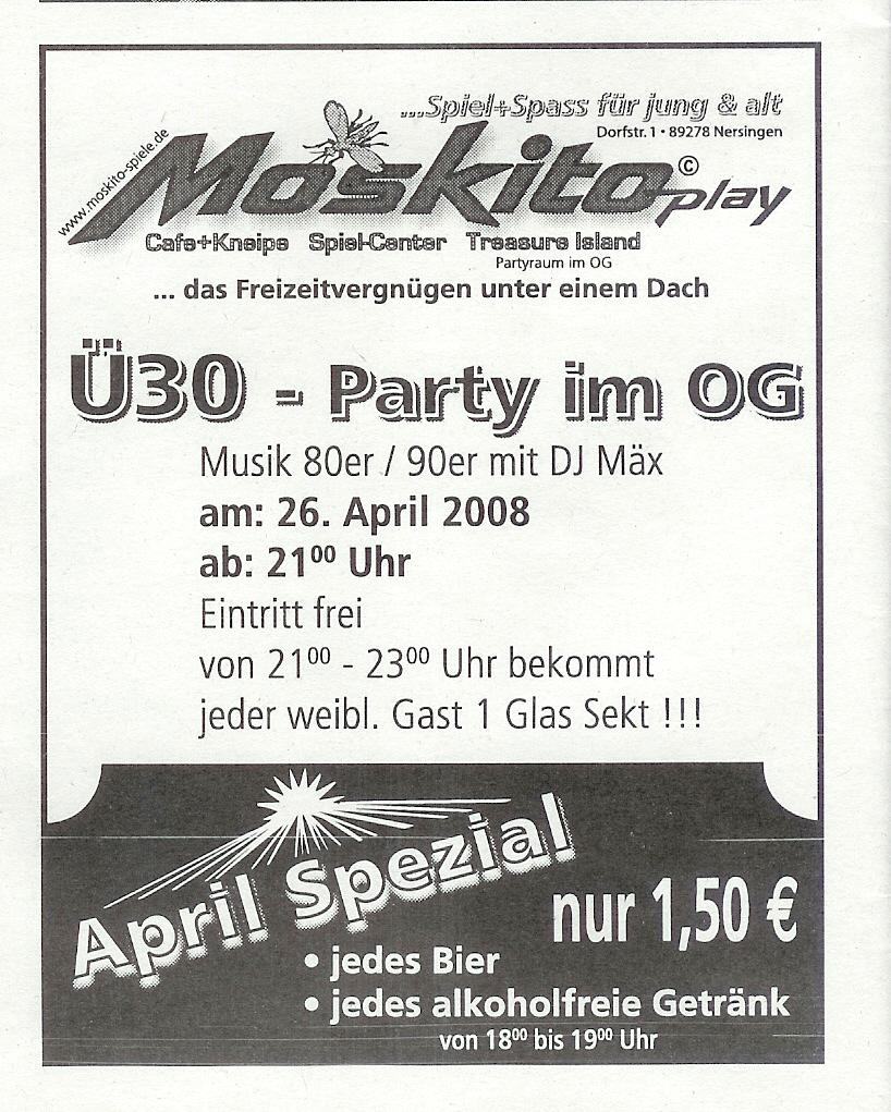Ü30-Party mit DJ Max