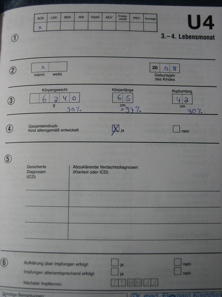 U4 Ergebnis